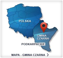 Mapa - Gmina Czarna